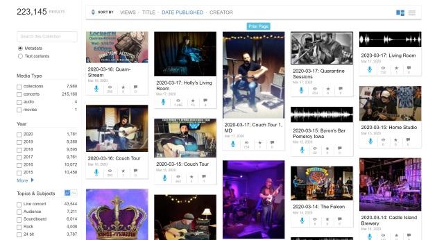 live music site görünümü